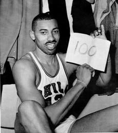 Chamberlain notched his 100-point game in 1962.